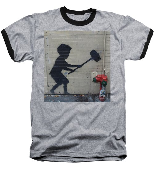 Banksy In New York Baseball T-Shirt