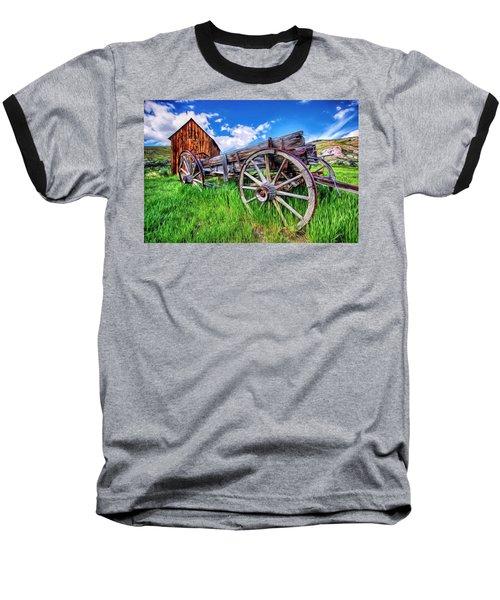 Bannack Wagon Baseball T-Shirt