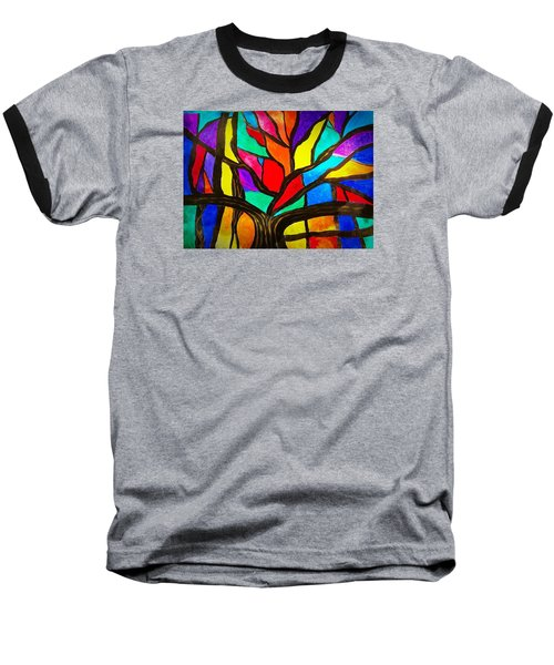 Banyan Tree Abstract Baseball T-Shirt