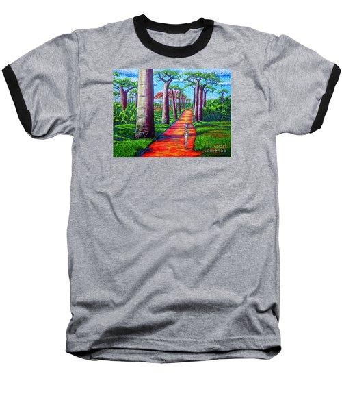 Baseball T-Shirt featuring the painting Baobab by Viktor Lazarev