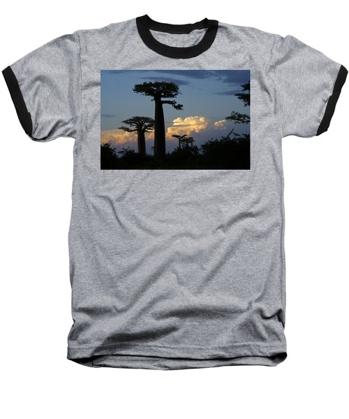 Baobabs And Storm Clouds Baseball T-Shirt