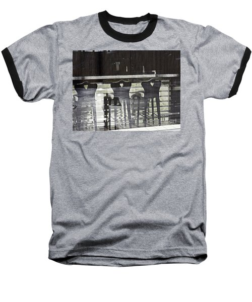 Baseball T-Shirt featuring the photograph Bar And Stools by Sarah Loft
