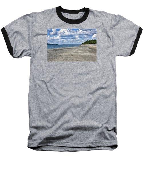Bar Harbor - Land Bridge To Bar Island - Maine Baseball T-Shirt by Brendan Reals