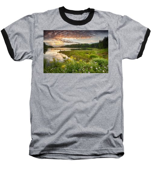 Baseball T-Shirt featuring the photograph Bar Harbor Maine Sunset One by Kevin Blackburn