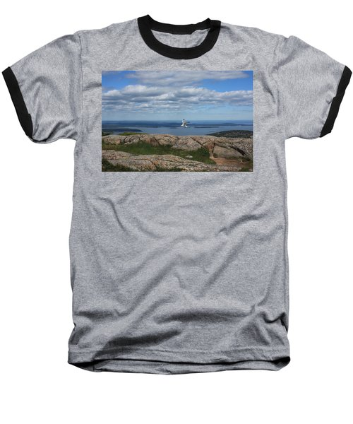 Bar Harbor View From Cadillac Baseball T-Shirt
