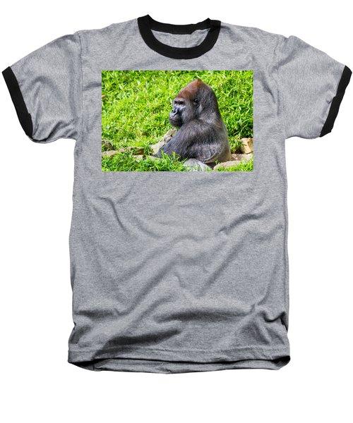 Baraka - Western Lowalnd Silverback Gorilla Baseball T-Shirt