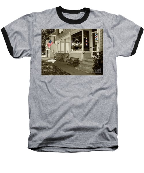 Clarks Barber Shop With Color Baseball T-Shirt