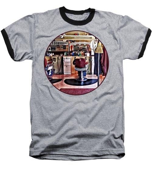 Barbershop With Coat Rack Baseball T-Shirt