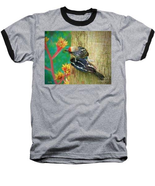 Barbet Nestlings Baseball T-Shirt by Judy Kay