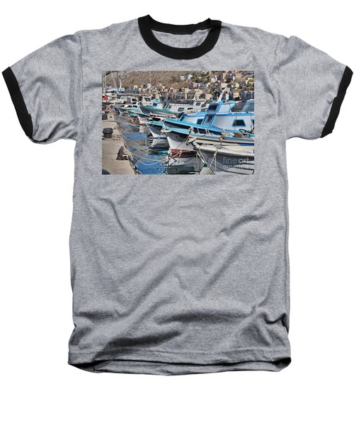 Harbour Of Simi Baseball T-Shirt by Wilhelm Hufnagl