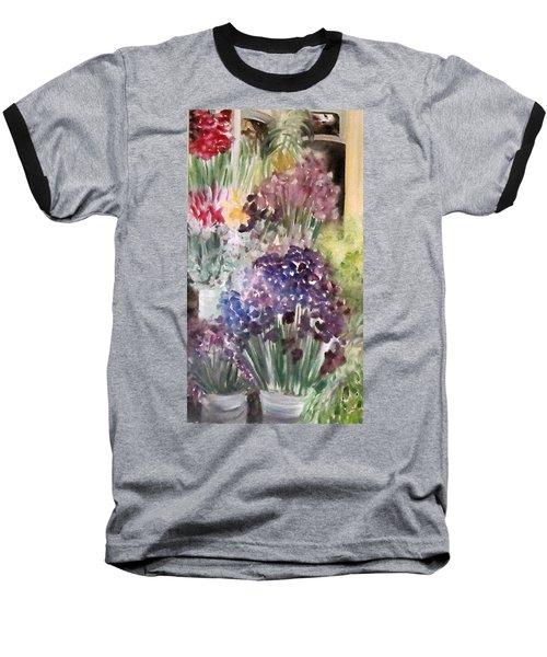 Barcelona Flower Mart Baseball T-Shirt