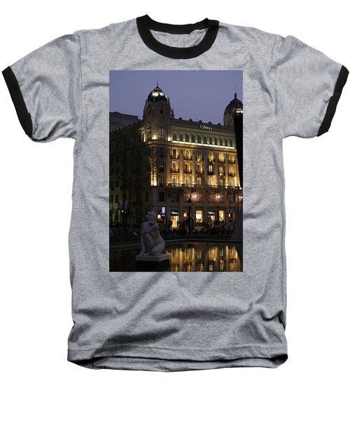 Barcelona Spain Baseball T-Shirt by Henri Irizarri