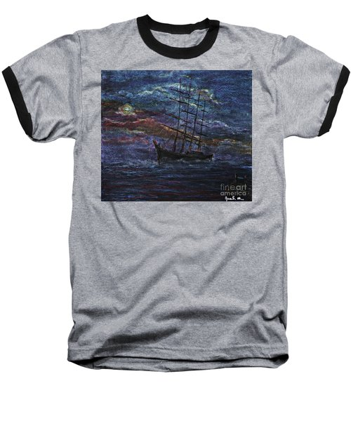 Barco Negro- Tribute To Amalia Rodrigues Baseball T-Shirt by AmaS Art
