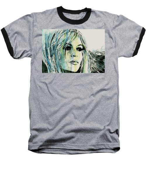 Baseball T-Shirt featuring the painting Bardot by Paul Lovering
