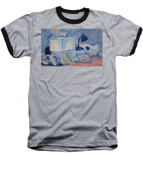 Bare Bones Baseball T-Shirt by Jean Haynes