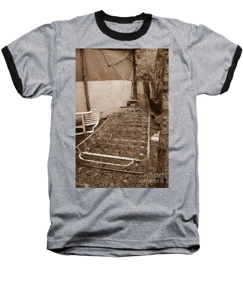 Baseball T-Shirt featuring the photograph Bare Bones Miners Camp by Marie Neder