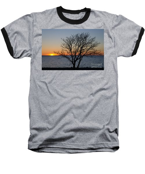 Bare Tree At Sunset Baseball T-Shirt