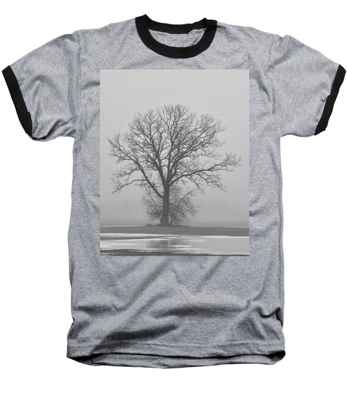 Bare Tree In Fog Baseball T-Shirt