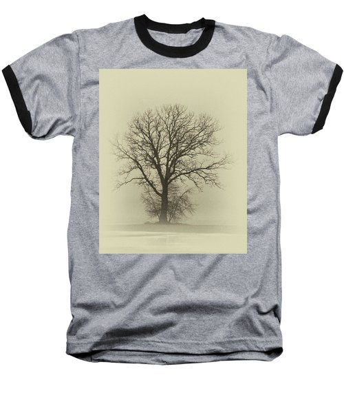 Bare Tree In Fog- Nik Filter Baseball T-Shirt