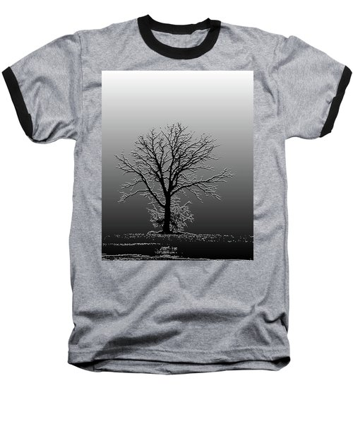 Bare Tree In Fog- Pe Filter Baseball T-Shirt