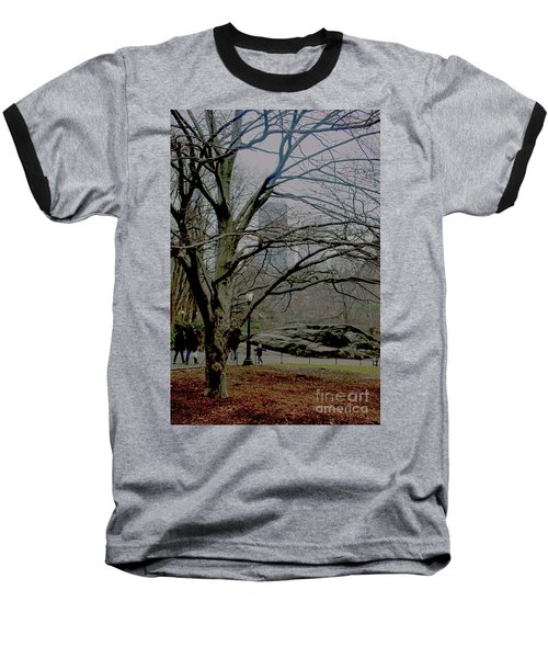 Baseball T-Shirt featuring the photograph Bare Tree On Walking Path by Sandy Moulder