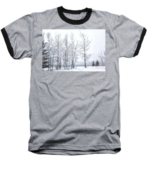 Bare Trees In Winter Baseball T-Shirt