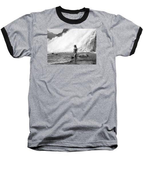 Barefoot In Wilderness Baseball T-Shirt