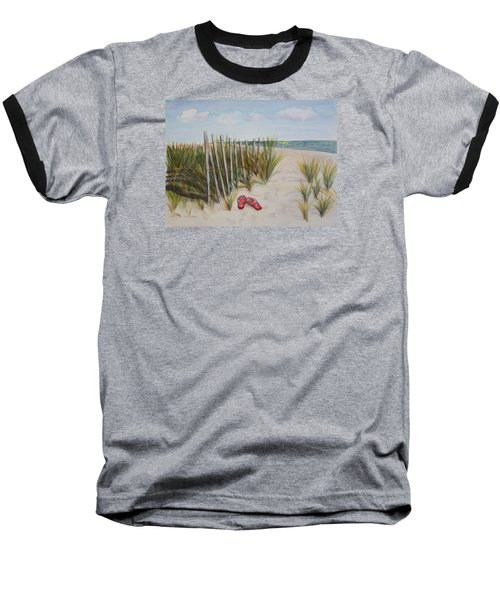 Barefoot On The Beach Baseball T-Shirt