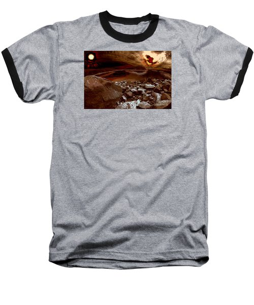 Bargain Bay  Series 2 Baseball T-Shirt by Elaine Hunter