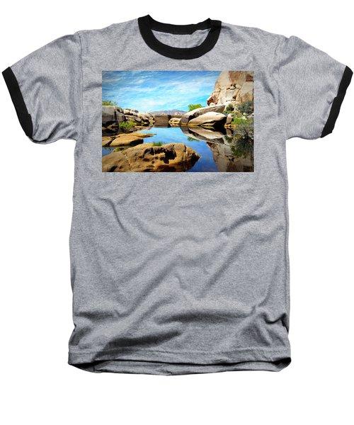 Baseball T-Shirt featuring the photograph Barker Dam - Joshua Tree National Park by Glenn McCarthy Art and Photography
