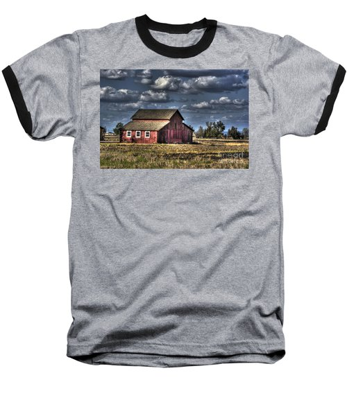 Barn After Storm Baseball T-Shirt by Jim and Emily Bush