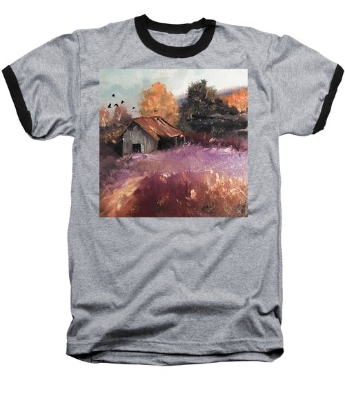 Barn And Birds  Baseball T-Shirt