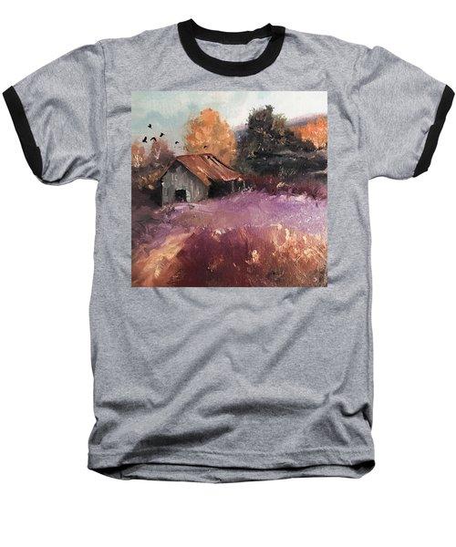 Barn And Birds  Baseball T-Shirt