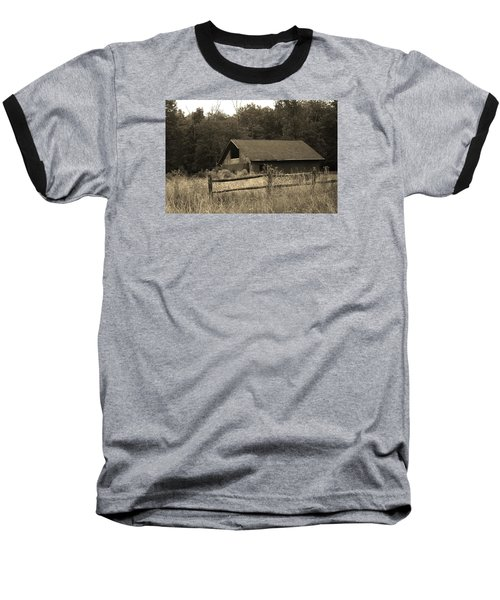 Barn And Fence Baseball T-Shirt