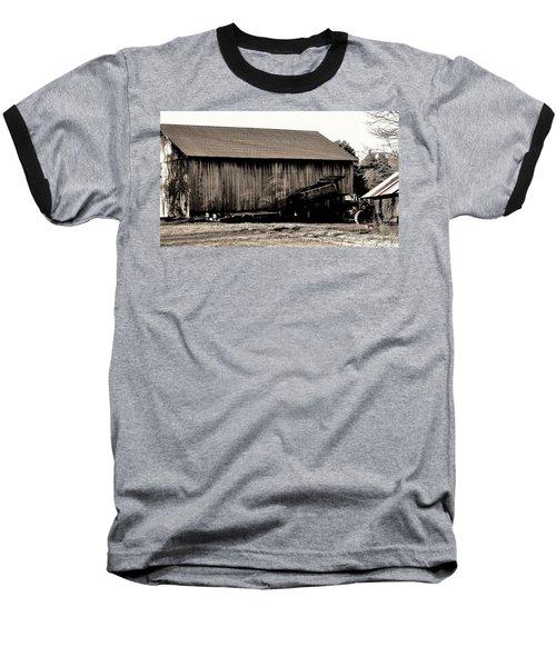 Barn And Truck Baseball T-Shirt