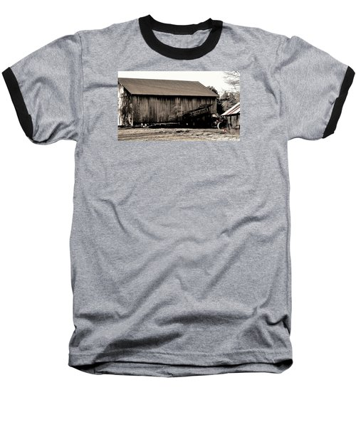 Barn And Truck Baseball T-Shirt