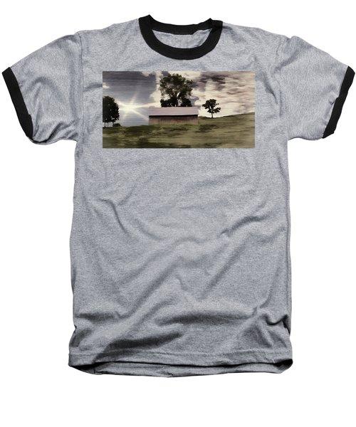 Barn II A Digital Painting Baseball T-Shirt