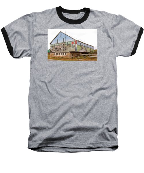 Baseball T-Shirt featuring the photograph Barn In Bedford by Trina  Ansel