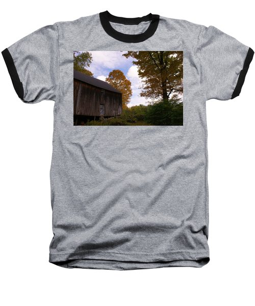 Barn In Fall Baseball T-Shirt by Lois Lepisto