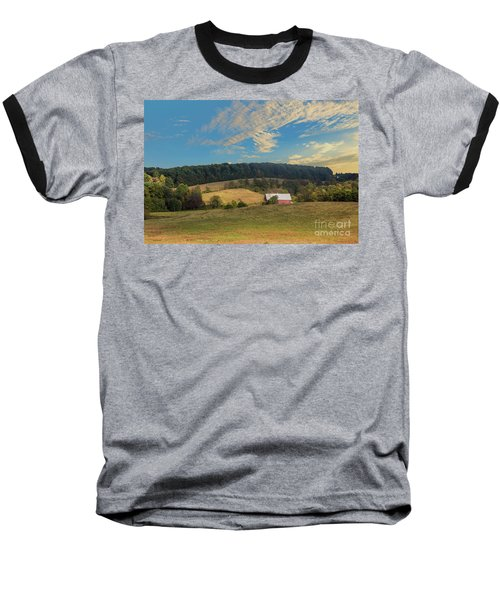 Barn In Field Baseball T-Shirt