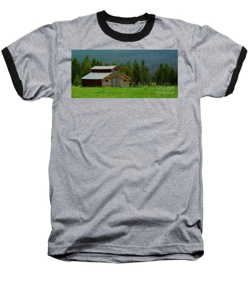 Barn In Rocky Mtn National Park Baseball T-Shirt
