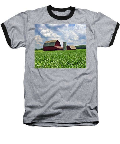 Barn In The Corn Baseball T-Shirt