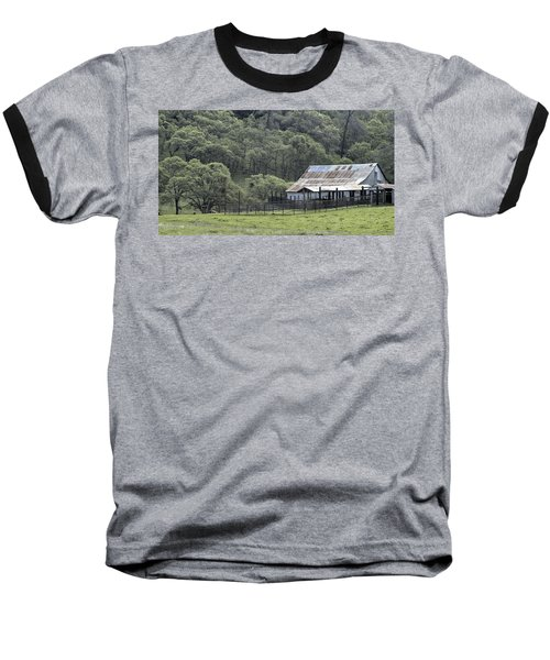 Barn In The Meadow Baseball T-Shirt