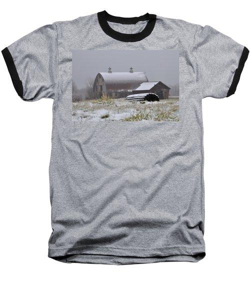 Barn In Winter Baseball T-Shirt