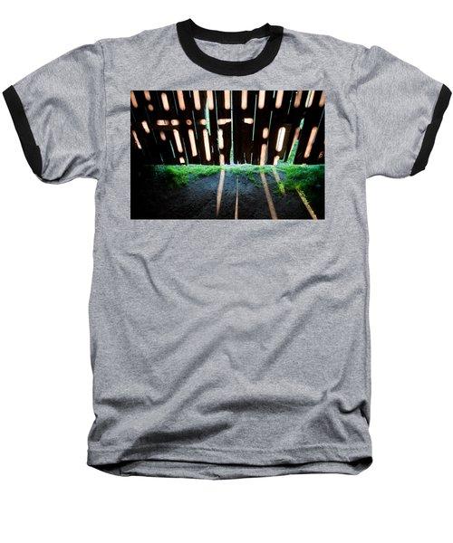 Barn Interior Shadows Baseball T-Shirt