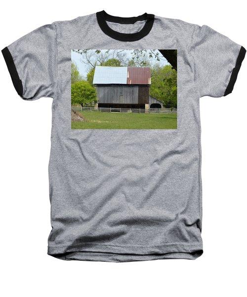 Barn Of Fair Hill Baseball T-Shirt by Donald C Morgan