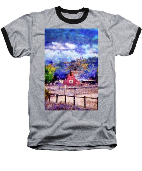 Barn On Ca Highway 154 Baseball T-Shirt by Joseph Hollingsworth
