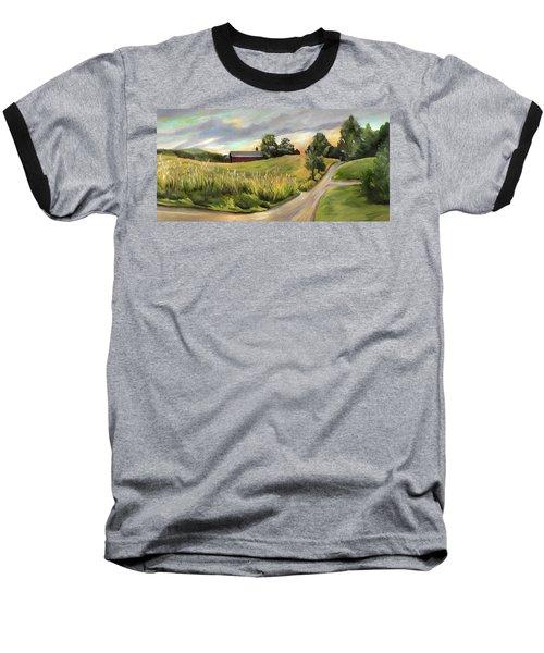 Barn On The Ridge In West Newbury Vermont Baseball T-Shirt