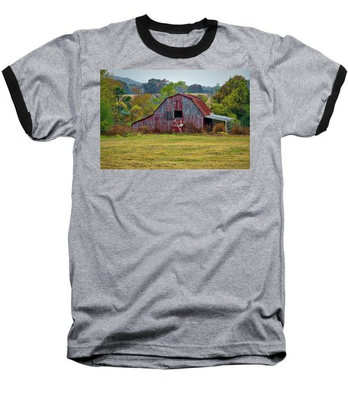 Barn On White Oak Road Baseball T-Shirt