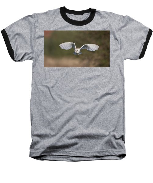 Barn Owl Approaching Baseball T-Shirt